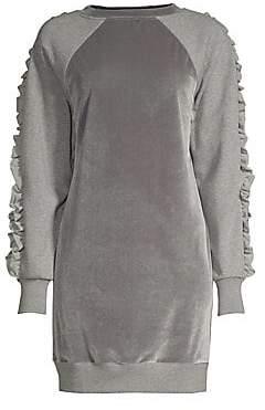 Elie Tahari Women's Destine Velvet Knit Casual Dress