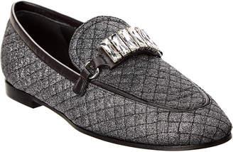 Giuseppe Zanotti Letizia Glitter Leather Loafer