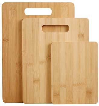 3 Piece Gourmet Kitchen Natural Bamboo Cutting Board Set
