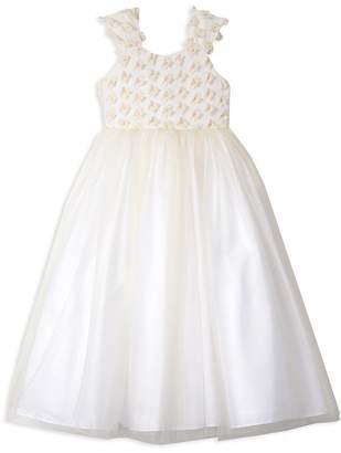 Badgley Mischka Girls' 3-D Flower Dress - Big Kid