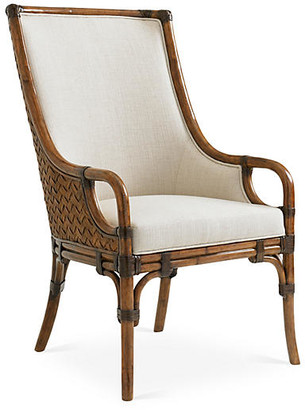 Tommy Bahama Marabella Upholstered Armchair - Ivory