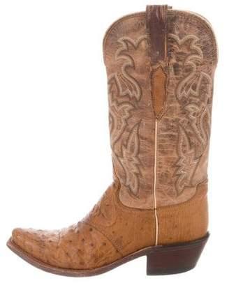 Lucchese Ostrich Cowboy Boots