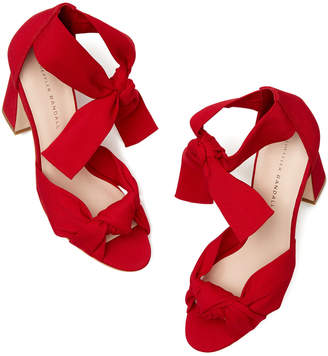286d29cba54 Red Ankle Tie Women s Sandals - ShopStyle