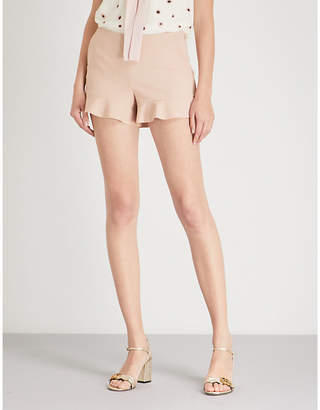 RED Valentino Ruffled crepe shorts