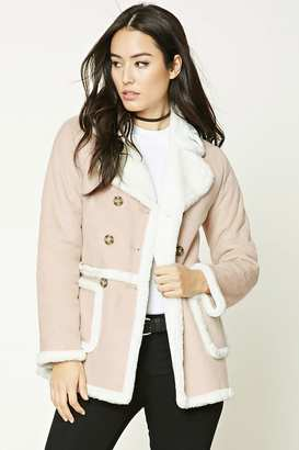 FOREVER 21+ Faux Shearling-Lined Coat $44.90 thestylecure.com