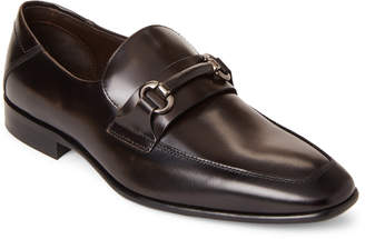 Bruno Magli Dark Grey Cristof Leather Loafers