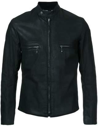 Addict Clothes Japan vintage style waxed zipped jacket