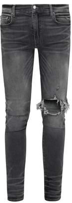 Amiri Broken Skinny Jeans - Mens - Grey