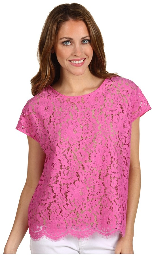 Robert Rodriguez Must Have Lace Tee (Pink) - Apparel