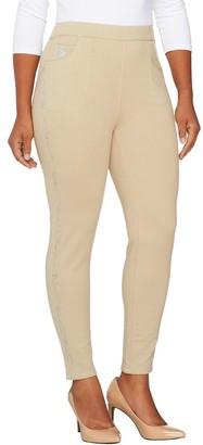 Factory Quacker Short Slim Leg DreamJeannes Leggings with Floral Vine