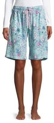 Karen Neuburger Printed Pull-On Shorts