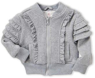 Urban Republic Infant Girls) Ruffled Fleece Bomber Jacket