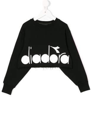 Diadora Junior cropped logo print sweatshirt