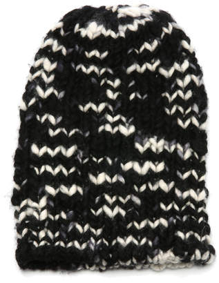 The Elder Statesman Chunky Hand-Knit Cashmere Beanie