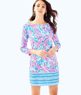 Lilly Pulitzer Womens Marlowe Boatneck T-Shirt Dress