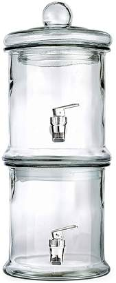Jay Import Clear Double Stacked Glass Beverage Dispenser