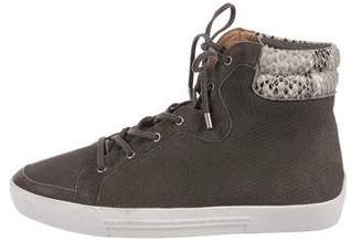 Joie Perforated High-Top Sneakers