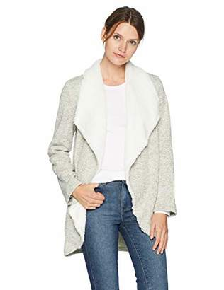 Arabella Women's Petite Sweater Fleck Draped Cardigan