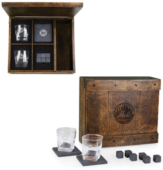 Legacy Whiskey Box Gift Set With New York Mets Laser Engraving