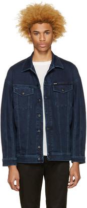 Diesel Blue Denim D-Sout Oversized Jacket $350 thestylecure.com