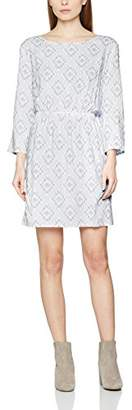 School Rag Women's RIMENE Not Applicable Round Collar 3/4 Sleeve Party Dress - White