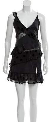 For Love & Lemons Lace-Trimmed Ruffled Dress w/ Tags Black Lace-Trimmed Ruffled Dress w/ Tags