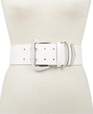 INC International Concepts I.n.c. Oversized-Buckle Stretch Belt