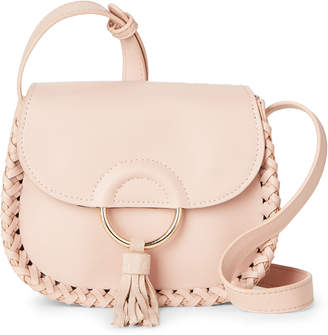 Street Level Blush Tassel Ring Crossbody