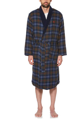Original Penguin BRYANT PLAID FLEECE ROBE