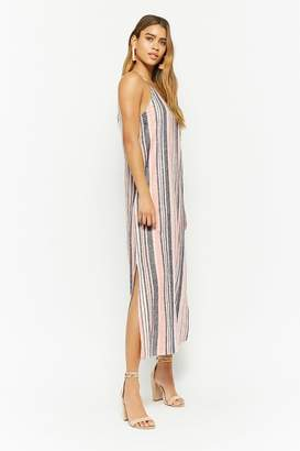 Forever 21 Striped Linen-Blend Dress