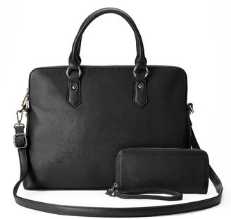 Deluxity Avery Satchel with Wallet $79 thestylecure.com