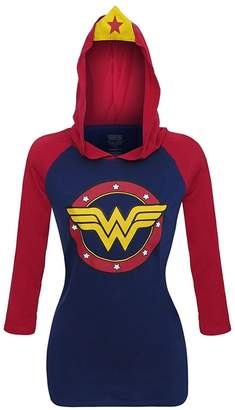 Bioworld DC Comics Wonder Woman Raglan Hoodie With Crown