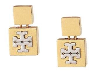 Tory Burch Block-T Drop Earrings