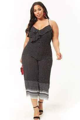 Forever 21 Plus Size Polka Dot Jumpsuit