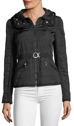 Moncler Andradite Zip-Front Fitted Jacket