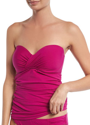 Tommy Bahama Pearl Underwire Solid Bandini Top, Wild Orchid (Available in D Cup) $104 thestylecure.com