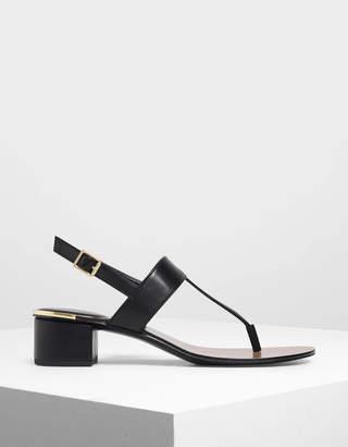 Charles & Keith Block Heel Thong Sandals