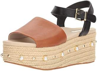 Kenneth Cole New York Women's Indra Studs Platform Espadrille Ankle Strap Heeled Sandal