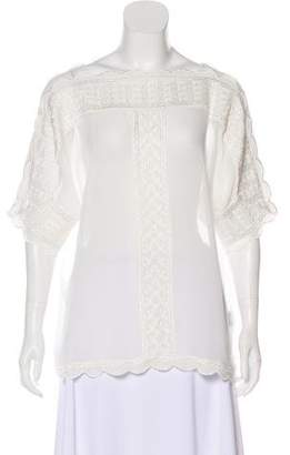 Isabel Marant Embroidered Sheer Top w/ Tags