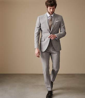 Reiss SERBELLONI Modern fit suit Light Grey