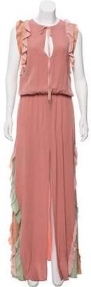 Alexis Ruffled Colorblock Dress