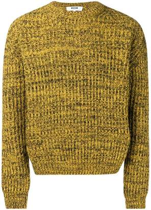 MSGM chunky knitted sweater