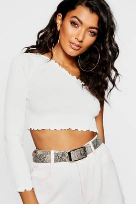 boohoo White Cropped Knitwear For Women - ShopStyle Australia
