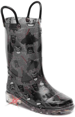 Western Chief Star Wars Dark Side Toddler & Youth Light-Up Rain Boot - Boy's