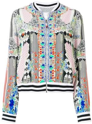 Camilla abstract print bomber jacket