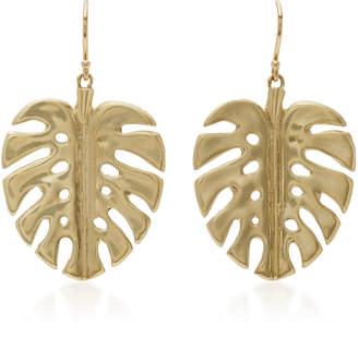 Annette Ferdinandsen 14K Gold Leaf Earrings