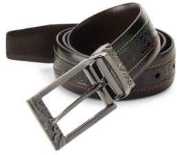 Robert Graham Reversible Textured Leather Belt