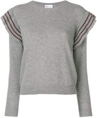 RED Valentino cropped sweater with pleated trim