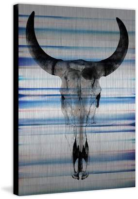 Parvez Taj Long Skull Face Print on Brushed Aluminum