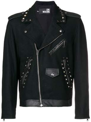 Love Moschino studded biker jacket
